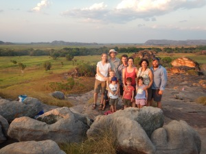 The clan on top of Ubirr Rock