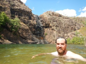 A welcome swim at Gunlom Falls