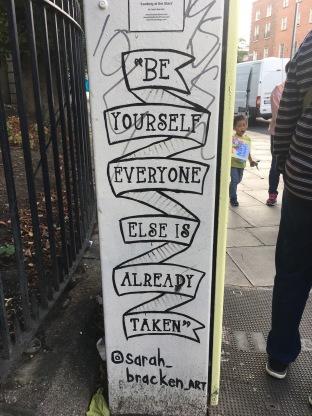 Words of sidom everywhere in Dublin